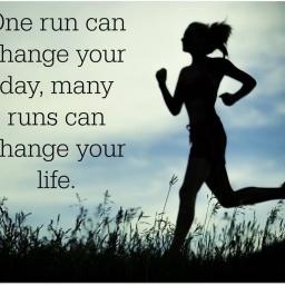 I ran.